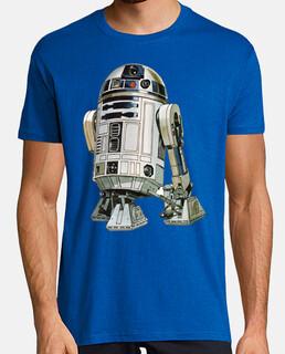 R2D2 Star Wars cine humor Retro  camisetas friki