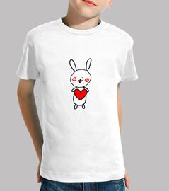 rabbit - love - cute - baby