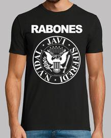 RABONES - Ramones - JAVI - Pide tu personalización en educamisetas-arroba-icloud.com
