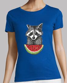 raccoon and watermelon