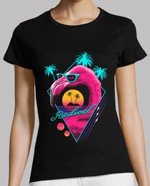 rad flamingo shirt frauen