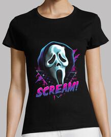 rad grito camiseta mujer