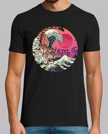 rad tiger wave shirt mens