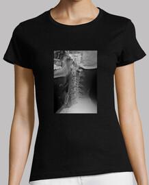 Radiografia de mi cuello con alfiler, no es coña. Mujer/Hombre manga corta, negra, calidad premium
