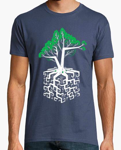 Camiseta raíz cúbica