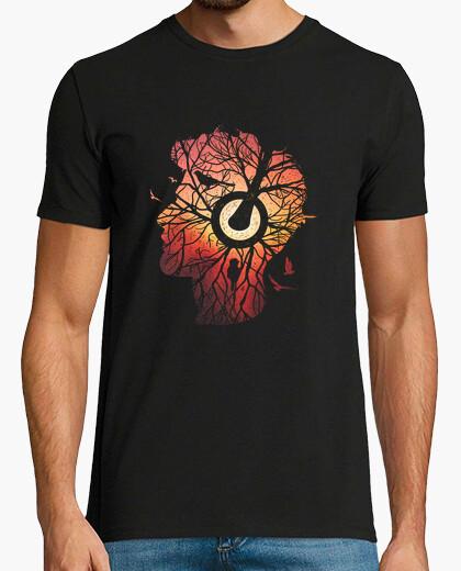 Camiseta raíces de los árboles-música