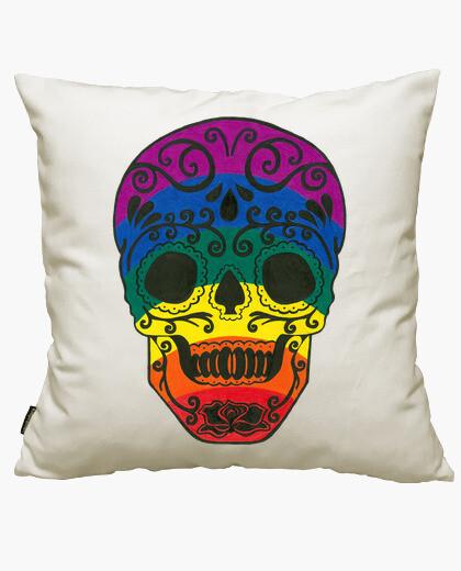 Funda cojín Rainbow Sugar Skull