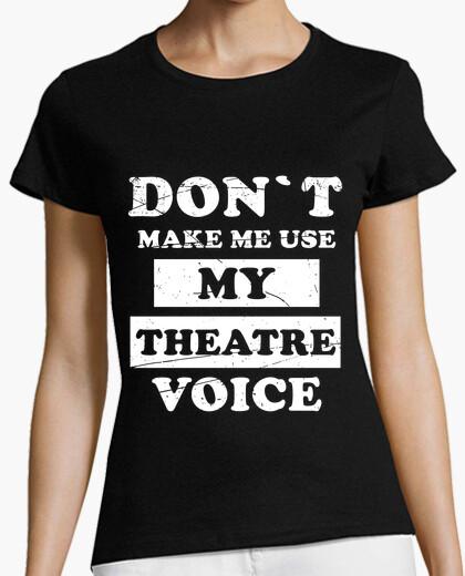 Raise the theater voice t-shirt