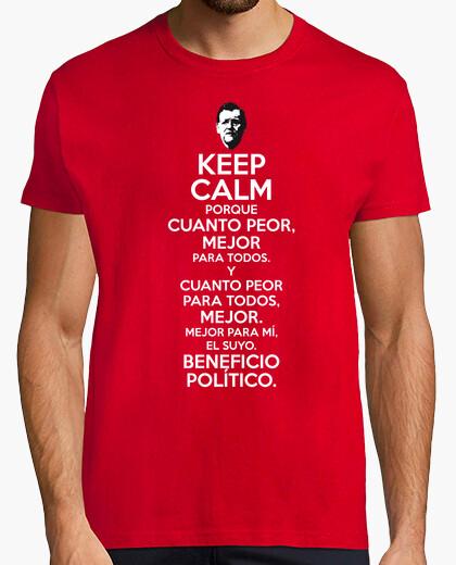 Camiseta Rajoy Cuanto Peor Mejor