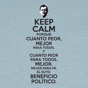 Camisetas Rajoy Cuanto Peor Mejor