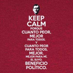 Tee-shirts Rajoy Cuanto Peor Mejor