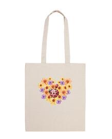 Ramo de flores, Bolsa tela 100 algodón