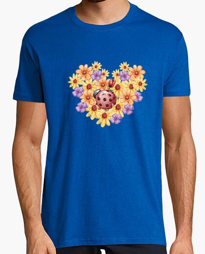 Camiseta Ramo de flores, Hombre, manga corta, azul royal, calidad extra