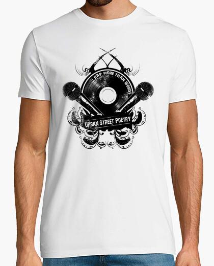 Camiseta Rap More Than Words, Urban Street Poetry (Rap Más que Palabras, Poesía Urbana Callejera)