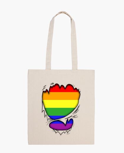Bolsa Rasgado Bandera Gay