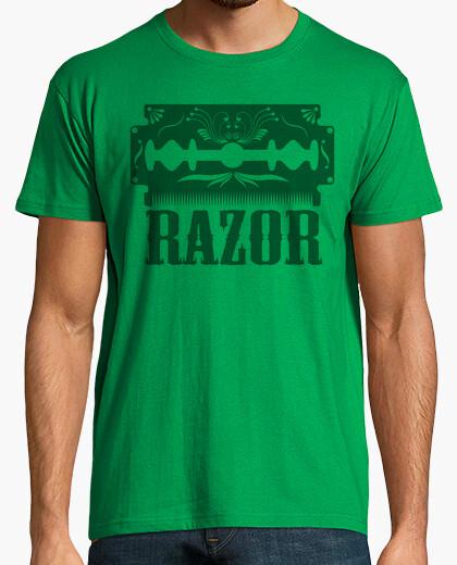 T-shirt rasoio decorato con lama di rasoio