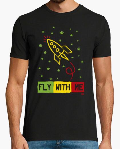 Tee-shirt rasta voler avec moi