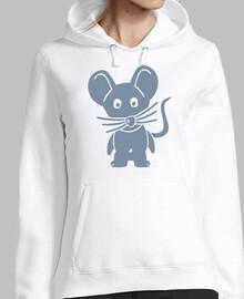 ratón cómico gris