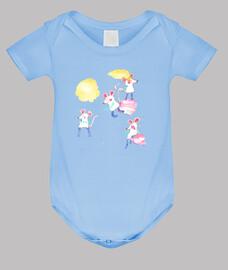 RATONCITOS body bebé azul