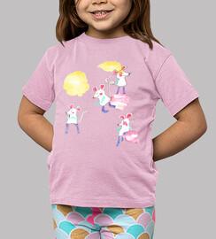RATONCITOS camiseta niño rosa
