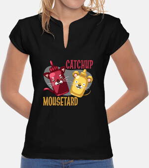 rattrapage et  tee shirt  mousetard  femme