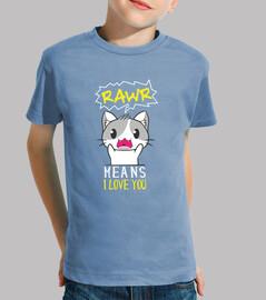 rawr signifie que je t'aime en chemise de chat pour chat