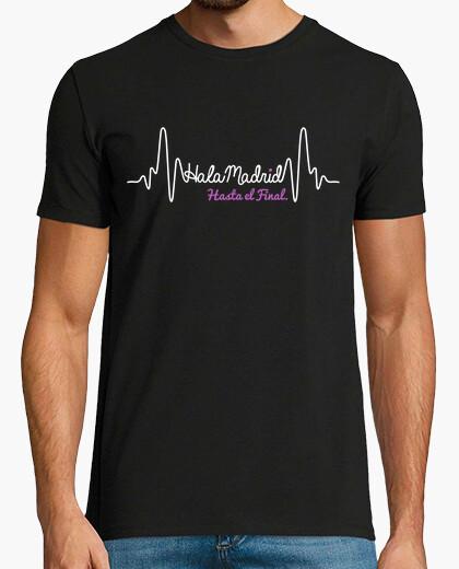 T-shirt real madrid fino a quando il battito cardiaco fine (sfondo scuro)