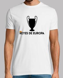 Real Madrid REYES DE EUROPA, blanco, calidad extra
