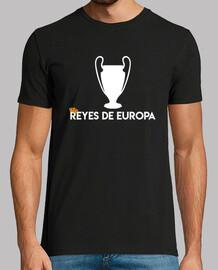 Real Madrid REYES DE EUROPA, negra, calidad extra
