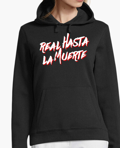Real sweatshirt to death black for girl,...
