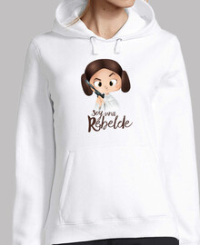 rebel-femme, chandail à capuchon, blanc