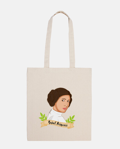 rebel princess leia totebag