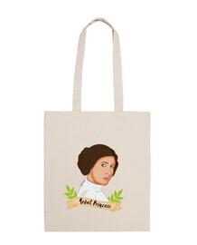 rebel princesse leia totebag