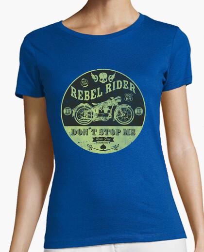 Rebel rider don't stop me t-shirt