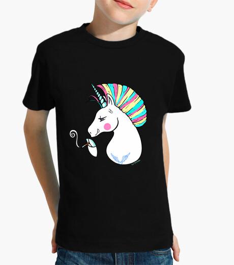 Ropa infantil Rebel Unicorn-Para fondo negro.