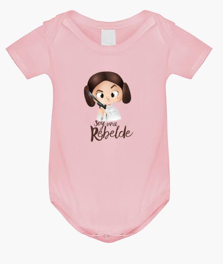 Ropa infantil Rebelde-Body bebé, rosa