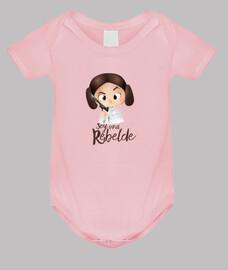 Rebelde-Body bebé, rosa