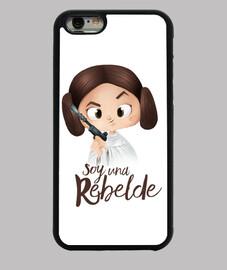 Rebelde-Funda iPhone 6, negra