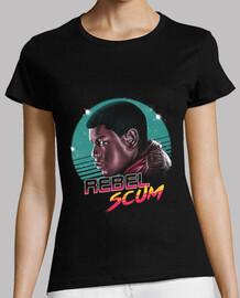 rebelde escoria camisa para mujer