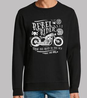 rebellischer Reiter von der Straße in d