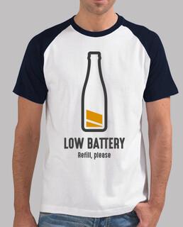 Recarga Batería Cerveza Hombre, estilo béisbol, blanca y azul royal
