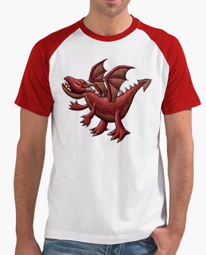 Red dragon baseball t-shirt