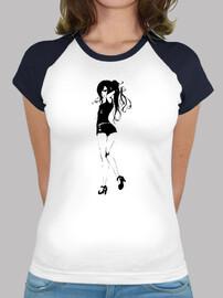 Red Girl - Camiseta estilo béisbol para chica