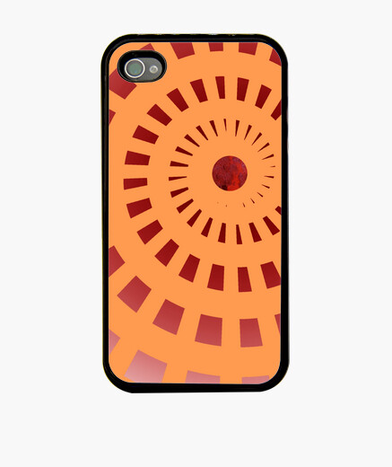 Red spiral iphone 4 iphone cases
