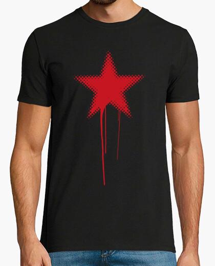 Tee-shirt red star grunge