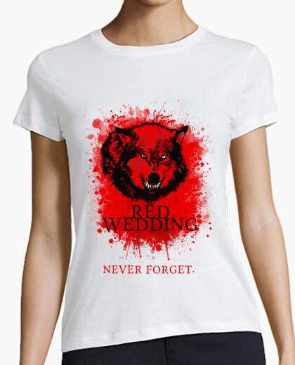 Camiseta Red Wedding Never Forget Blanca - Juego de Tronos