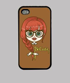 redhair nerd iphone4