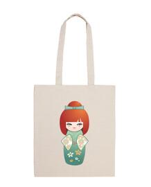 redhead kokeshi
