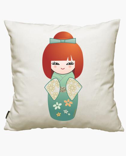 Redhead kokeshi cushion cover