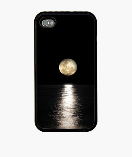 Funda iPhone Reflejo de la luz de la luna llena en e